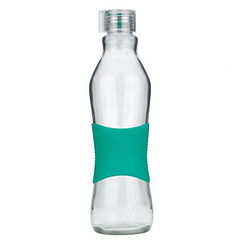 Grip & Go Botella de vidrio para beber/ para nevera 1.0L -...