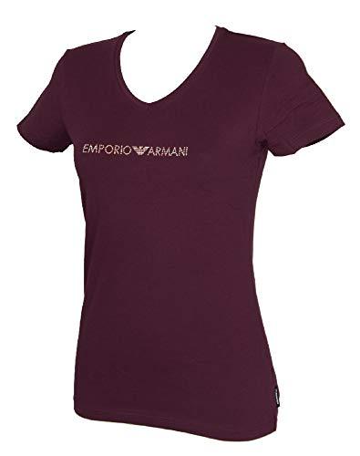 Emporio Armani T-Shirt t-Shirt Femme Encolure en V Coton à Manches Courtes Article 163321 9P263