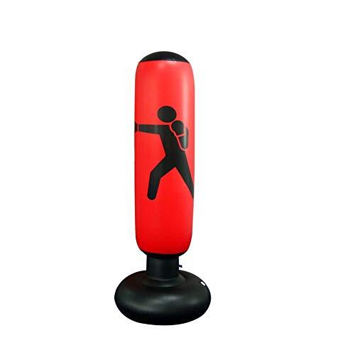 Sacco da boxe da pavimento gonfiabile, AILUOR Target Bag con Pompa per Formazione Veloce di Boxe, Sport Adulto dei Bambini del Sacchetto di Perforazione del Pugilato di addestramento di Scossa (Rosso)