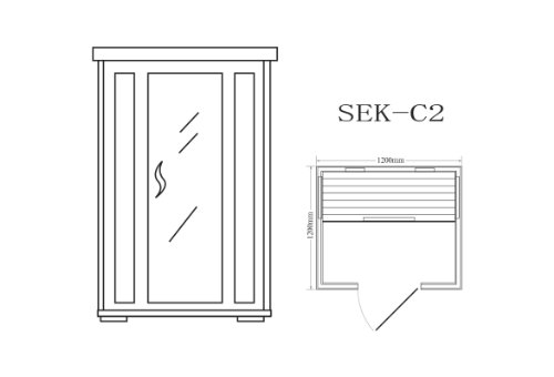 Infrarotkabine Wärmekabine – ECK! für 2 Personen - 2