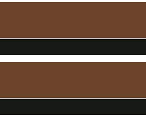 "Kleisterbordüre \""Streifen Braun\"", 4-teilig 520x15cm, Tapetenbordüre, Wandbordüre, Borte, Wanddeko,abstrakt, Vintage"