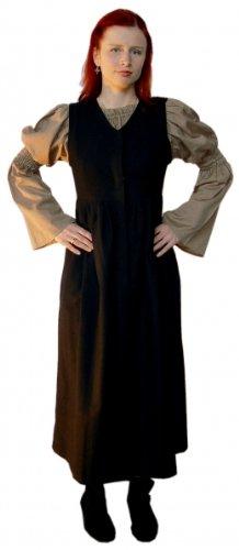 telalter Marktkleid - Damen Mittelalterliches Trägerkleid Alana XL/natur (Alan Halloween Kostüm)