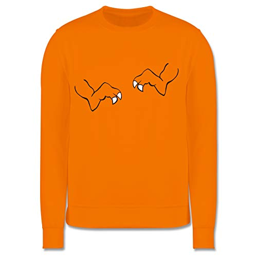 Kostüm Trex Kinder Orange - Shirtracer Karneval & Fasching Kinder - T-Rex Karneval Kostüm - 3-4 Jahre (104) - Orange - JH030K - Kinder Pullover