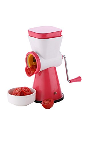 Queen Chef™ 4 In 1 Jumbo Drum Grater Shredder Slicer For Vegetable, Fruits, Chocolate, Dry Fruits, Salad Maker With 4 Different Attractive Drums