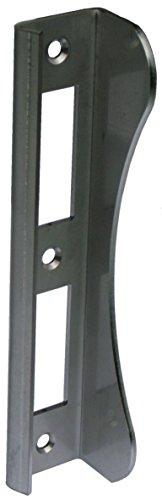 Gedotec Winkel-Schließblech Edelstahl Lappenschließblech für Gartentore & Türen | Toranschlag 180 mm | Schliessblech Edelstahl V2A rostfrei | Materialstärke 3 mm | 1 Stück