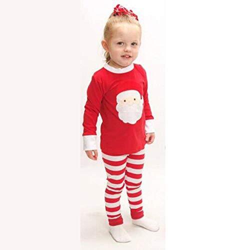 DYMAS Weihnachten Kleidung nach Hause tragen Herbst Kindeskinder Verschleiß Pyjama Set Langarm niedliche - Niedlich Original Kostüm Mädchen