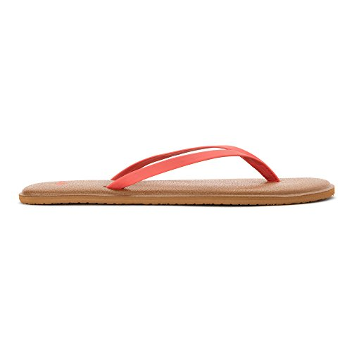 Sanuk Yoga Bliss, Infradito donna Corallo (Spiced Coral)