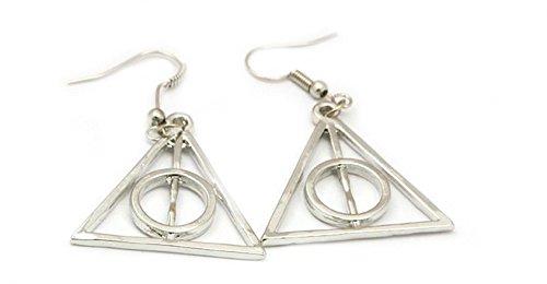 Harry Potter Silber Deadly Hallows Logo Ohrring-im Geschenkkarton von Outlander