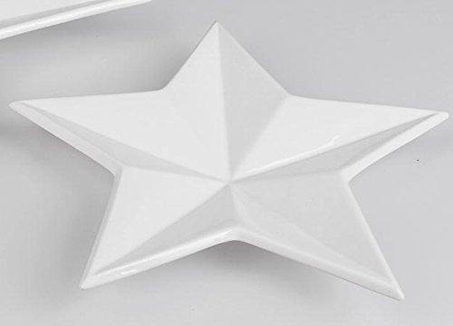 Formano Bol à Biscuits en Forme d'étoile Blanc 40 cm