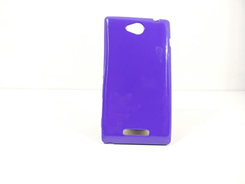 iCandy™ Colorfull Thin Soft TPU Back Cover For Sony Xperia C C2305 S39H - Purple  available at amazon for Rs.109