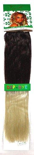 1st Lady® Fashion omber 45,7 cm droite avec pointes couleur fibre synthétique haute chaleur tête complète (8) Clip en Extensions de cheveux (Marron chocolat foncé à Blond décoloré) # 4/613 120 g