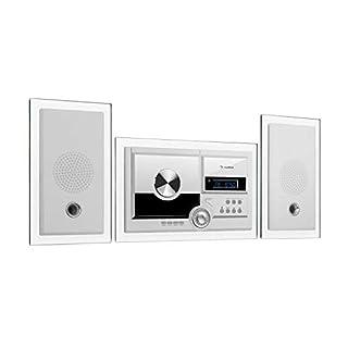 auna Stereosonic • Stereoanlage • Kompaktanlage • Stereo System • Radio • CD-Player • USB-Port • Bluetooth • AUX-In • zur Wandmontage • weiß
