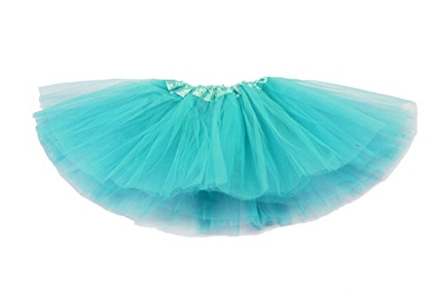 "Tüllrock ""Mia"" für Mädchen - Tütü Tutu Petticoat Ballettrock - Petrol - One Size"