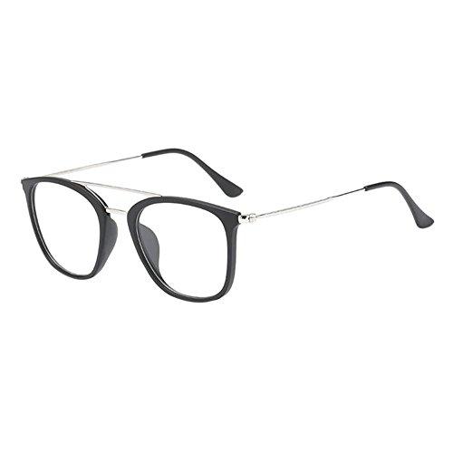 Hzjundasi Unisex Mode Männer Damen Dauerhaft Kurzsichtigkeit Brille Kurz Entfernung Linsen Fahren Kurzsichtig Eyewear (Stärke -1.5, Matt Schwarz) (Diese sind nicht Lesen Brille)
