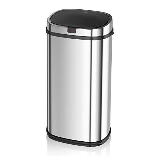 Morphy Richards 971504 42 litros Papelera Sensor Cuadrados de Acero Inoxidable