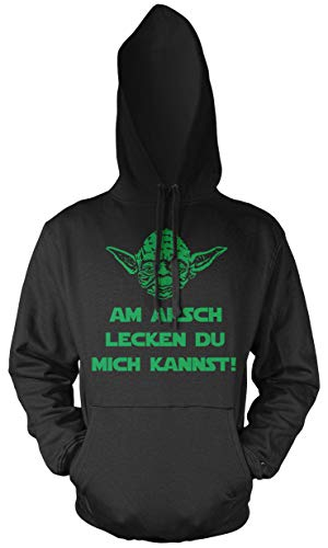 Yoda Spruch Männer und Herren Kapuzenpullover | Star Wars Darth Zitate Sith Vader | Am Arsch ()