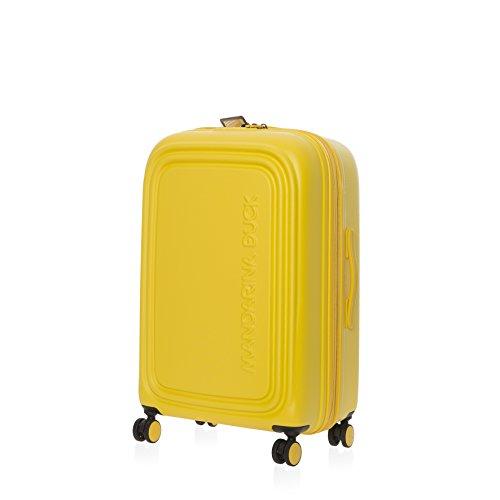 Mandarina Duck Logoduck + M Valigia trolley 4 ruote giallo