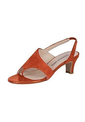 Dianette aus Leder von Patrizia Dini Orange