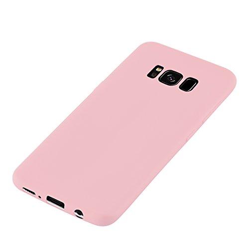 Cover iPhone 8 Plus Cover iPhone 7 Plus, JAMMYLIZARD [Jelly] Custodia Case in Silicone Morbido Ultra Slim Skin perr Apple iPhone 8 Plus / Apple iPhone 7 Plus, Rosa Antico ROSA ANTICO