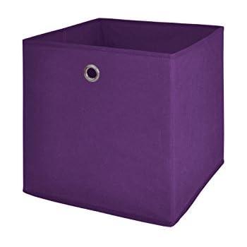 Ordnungsboxen Violett 3er SET Aufbewahrungsbox Stoff