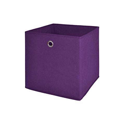 Möbel Akut Faltbox 4er Set in der Farbe brombeer, Aufbewahrungsbox für Raumteiler oder Regale -