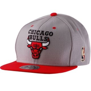 Mitchell & Ness Greycrn Snapback - CHICAGO BULLS - Grau-Rot, ONE SIZE (Trikot Baseball-herren)
