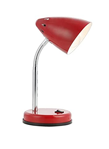 Tischleuchte 1-flammig Mono Farbe (Kopf / Fu?): Rot (1 Tischleuchte)