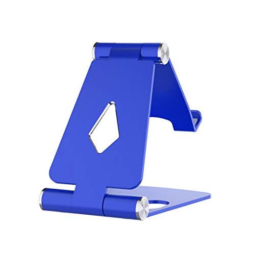 ZYNEN ZYNENDoppelklapphalterung Einstellbare Handyhalterung Multi Funktion Aluminiumlegierung Halterung Metall Desktop Rack Tow Kreative Geschenke,Blue (Tow-rack)
