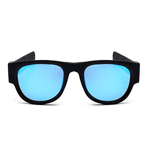 Radfahren Klappsonnenbrille Crackling Polarizing Sonnenbrille 140 X 61 X 49 Mm Ice Blue Flakes Black Legs -