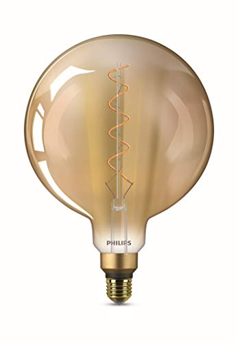 Philips LEDclassic Lampe Giant Gold, Vintage Retro-Design ersetzt 25W, E27, Flame (2000 Kelvin), 300 Lumen, Globe, Dekolampe - Philips Globe