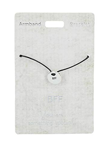 Depesche 4704.1 Armband, Just for You, mit Nylonband, BFF, bunt