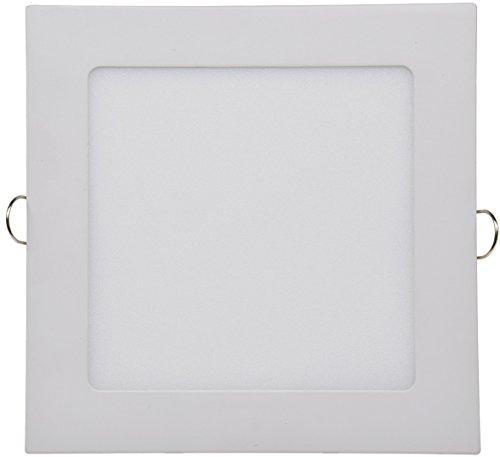 LED Licht-Panel Wand Decke Einbau I Eckig 12-30 cm I 230V I 6-24W I inkl. Trafo I 12mm flach I Lichtfarbe wählbar (neutralweiß, 17 x 17cm) -