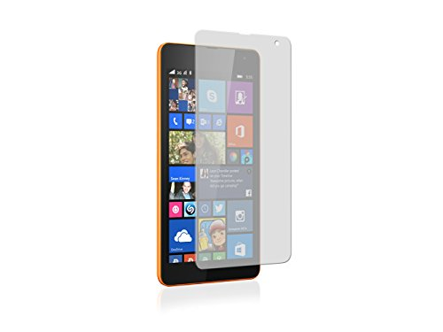 SNOOGG Nokia Lumia 535Full Body Tempered Glass Screen Protector [ Full Body Edge to Edge ] [ Anti Scratch ] [ 2.5D Round Edge] [HD View] - White  available at amazon for Rs.99