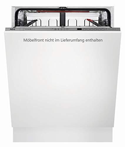 AEG FSE62600P Vollintegrierter-Geschirrspüler / 60cm / AirDry - perfekte Trocknungsergebnisse / energiesparend / Besteckkorb / Glasprogramm / Beladungserkennung / Intensivprogramm / Kurzprogramm / St