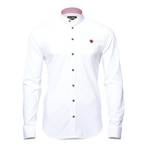 GaudiHerz - Trachtenhemd in weiß (S)