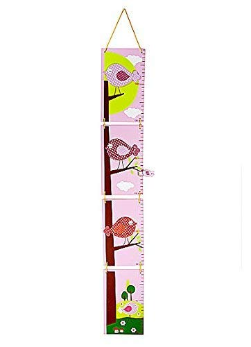 Gráfico tabla crecimiento madera motivos pájaros