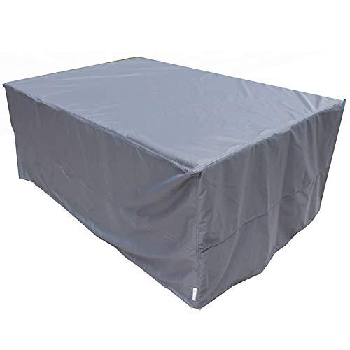 Garten-Rattan-Möbel-Abdeckungs-Patio Waterproof staubgeschützter Sunscreen-Rechteck-Tabelle im Freien (Farbe : Silber, größe : 120x120x75cm) -