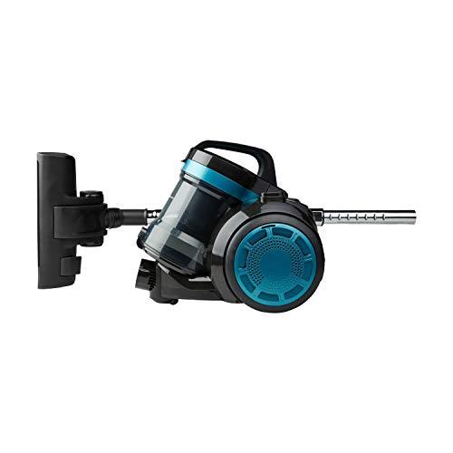 MEDION Zyklonen-Staubsauger 800 Watt Leistung, 2 Liter Staubbehälterkapazität, 5 m Arbeitsradius, waschbarer EPA-Filter E12, MD 19407, blau