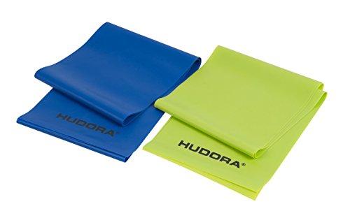 HUDORA Fitness-Band Set 2 Stück, blau & grün - Gymnastik-Band elastisch - 64147