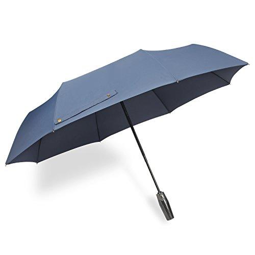 Parapluie automatique pliant anti-retournement solide imperméable etanche buiness Srxing Hanmir pour homme et femme