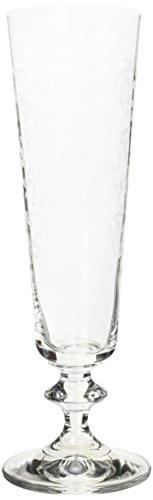 Bohemia Cristal  093 006 045 Sektkelche ca. 205 ml aus Kristallglas 6er Set Provence