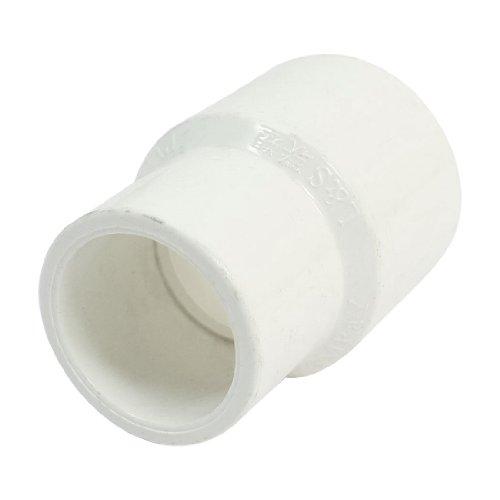 32mm bis 25mm Weiß PVC Wasser Rohr gerade Adapter Anschluss Fitting (Gerades Rohr)