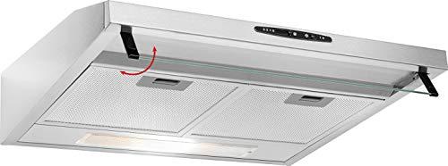 Bomann DU 623.3 Dunstabzugshaube Unterbau, Glas-Wrasenschirm, Umluft-oder Abluftbetrieb, 3 Leistungsstufen, LED Beleuchtung / 204,9 m³/h, Edelstahl-optik - 6