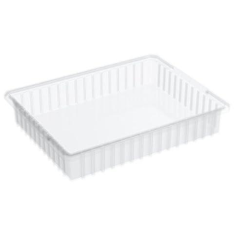Akro-mils 3322422–3/8-inchl par 17–3/20,3cm L 10,2cm de H Akro-grid fente intercalaire Plastique Tote Box, Effacer, 6-pack, 33224SCLAR