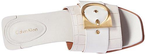 Calvin Klein Anthea Damen Synthetik Sandale Platinum White