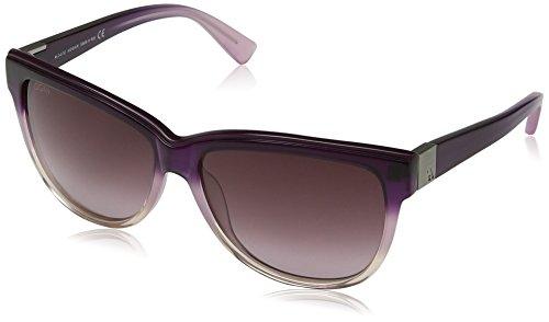 Hogan - occhiali da sole ho0045 wayfarer, 83z tranparent rose / violet