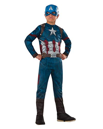 Horror-Shop Lizenziertes Captain America Civil War Kinderkostüm ()