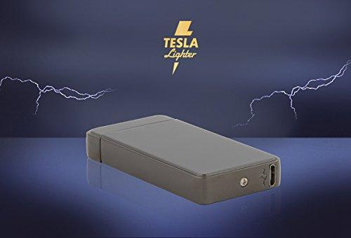 Tesla-Lighter T01 Lichtbogen Feuerzeug USB Feuerzeug Arc Lighter elektronisches Feuerzeug wiederaufladbar Schwarz -