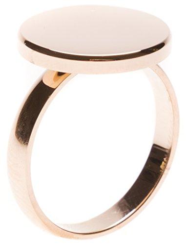 Happiness Boutique Damen Kreis Ring in Rosegold | Minimalist Ring Rund Geometrischer Schmuck