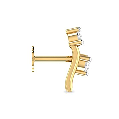PC Jeweller The Heber 18KT Yellow Gold and Diamond Nose Pin for Women